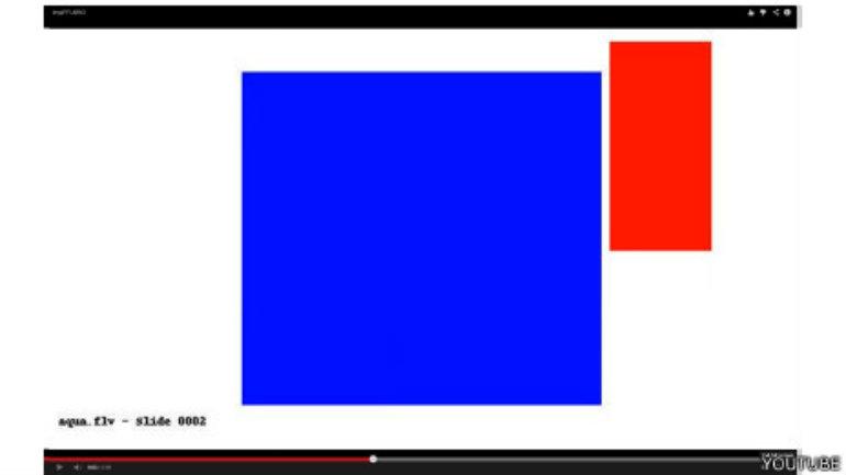 Los videos muestran rectángulos acompañados de un sonido bastante ensordecedor