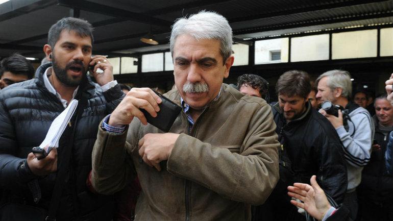 Aníbal Fernández, luego de votar ayer en la mañana.Foto:Télam