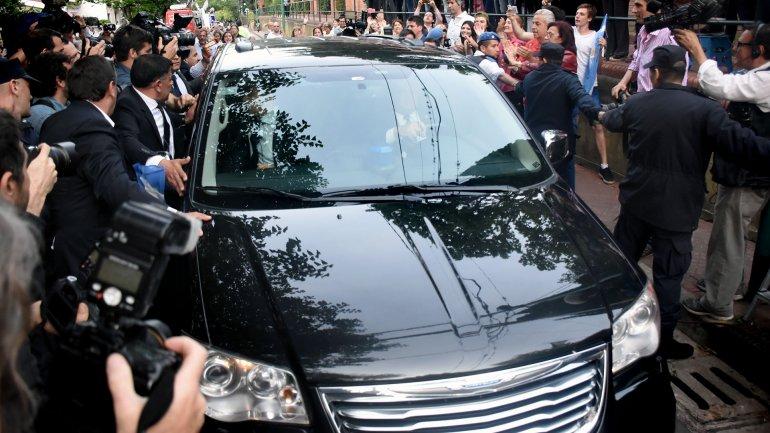 El momento en que Mauricio Macri llega a la Quinta de Olivos