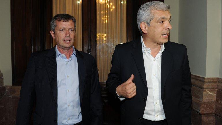 Emilio Monzó se reunió con Julián Domínguez (Telam)