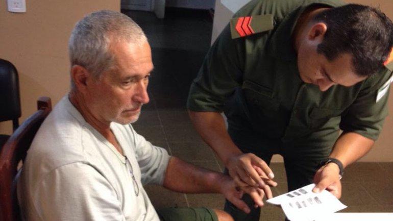 Chueco tras su detención e Paraguay