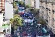 Imagen aérea de la última marcha de las centrales obreras que se realizó el 29 de abril