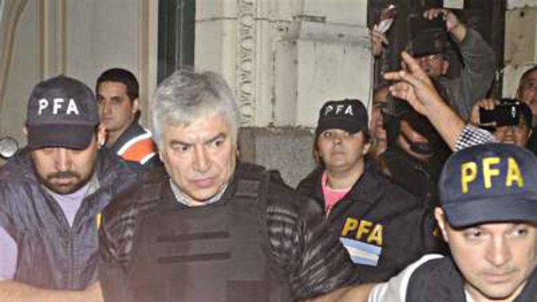 Lázaro Báez, cuando fue detenido. Con antibalas.