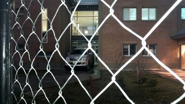 El momento del allanamiento en la sede de la UTN.