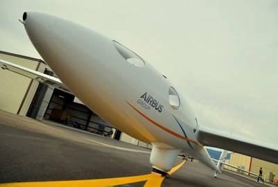 El planeador de la misión Perlan II en Minden, Nevada (Estados Unidos). EFE / Airbus.